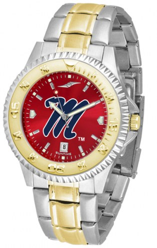 Mississippi Rebels Competitor Two-Tone AnoChrome Men's Watch