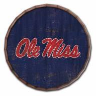 """Mississippi Rebels Cracked Color 16"""" Barrel Top"""