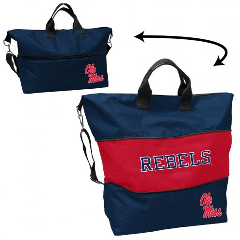 Mississippi Rebels Crosshatch Expandable Tote