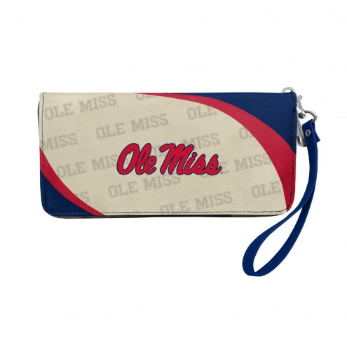 Mississippi Rebels Curve Zip Organizer Wallet