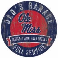 Mississippi Rebels Dad's Garage Sign