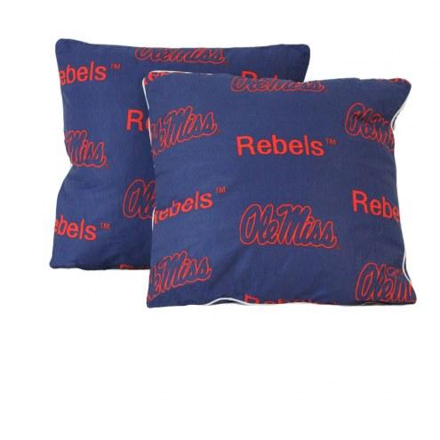 Mississippi Rebels Decorative Pillow Set