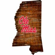 Mississippi Rebels Distressed State with Logo Sign