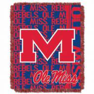 Mississippi Rebels Double Play Woven Throw Blanket