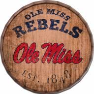 """Mississippi Rebels Established Date 24"""" Barrel Top"""