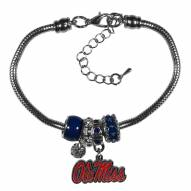 Mississippi Rebels Euro Bead Bracelet
