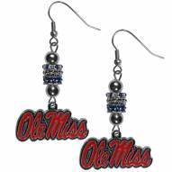 Mississippi Rebels Euro Bead Earrings