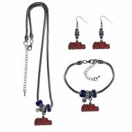 Mississippi Rebels Euro Bead Jewelry 3 Piece Set