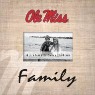 Mississippi Rebels Family Picture Frame