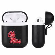 Mississippi Rebels Fan Brander Apple Air Pods Leather Case