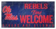 Mississippi Rebels Fans Welcome Sign
