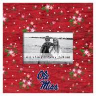 """Mississippi Rebels Floral 10"""" x 10"""" Picture Frame"""