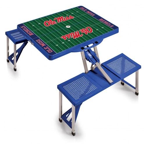 Mississippi Rebels Folding Picnic Table