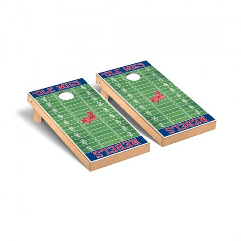 Mississippi Rebels Football Field Cornhole Game Set
