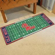 Mississippi Rebels Football Field Runner Rug