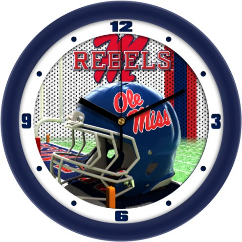 Mississippi Rebels Football Helmet Wall Clock