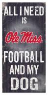 Mississippi Rebels Football & My Dog Sign