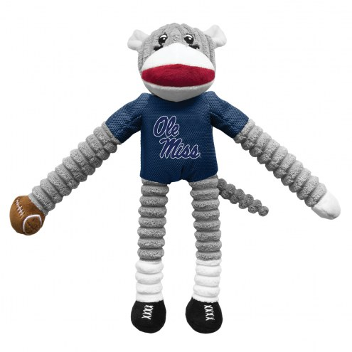 Mississippi Rebels Team Sock Monkey Pet Toy