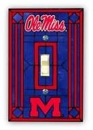 Mississippi Rebels Glass Single Light Switch Plate Cover