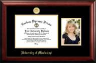 Mississippi Rebels Gold Embossed Diploma Frame with Portrait