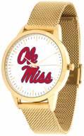 Mississippi Rebels Gold Mesh Statement Watch