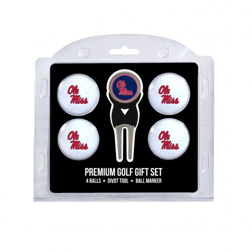 Mississippi Rebels Golf Ball Gift Set