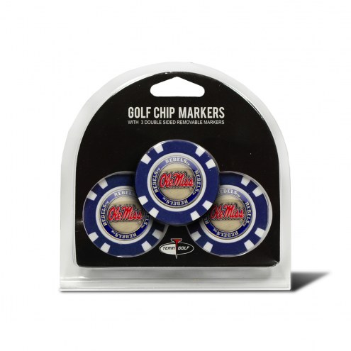 Mississippi Rebels Golf Chip Ball Markers