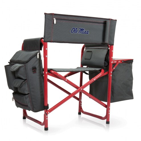 Mississippi Rebels Gray/Red Fusion Folding Chair