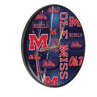 Mississippi Rebels Digitally Printed Wood Clock