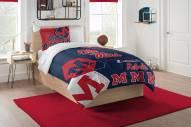 Mississippi Rebels Hexagon Twin Comforter & Sham Set