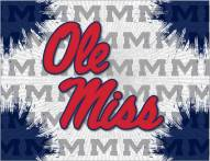 Mississippi Rebels Logo Canvas Print