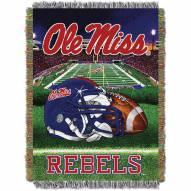 Mississippi Rebels Home Field Advantage Throw Blanket
