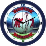 Mississippi Rebels Home Run Wall Clock