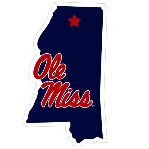 "Mississippi Rebels Home State 11"""" Magnet"