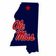 """Mississippi Rebels Home State 11"""""""" Magnet"""