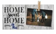 Mississippi Rebels Home Sweet Home Clothespin Frame