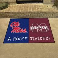 Mississippi Rebels/Mississippi State Bulldogs House Divided Mat