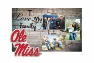 Mississippi Rebels I Love My Family Clip Frame