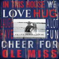 """Mississippi Rebels In This House 10"""" x 10"""" Picture Frame"""