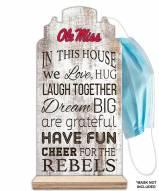 Mississippi Rebels In This House Mask Holder