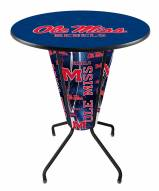 Mississippi Rebels Indoor Lighted Pub Table