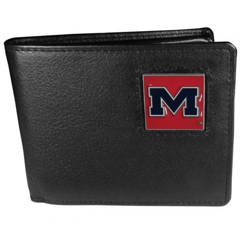 Mississippi Rebels Leather Bi-fold Wallet in Gift Box
