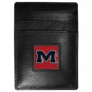 Mississippi Rebels Leather Money Clip/Cardholder in Gift Box