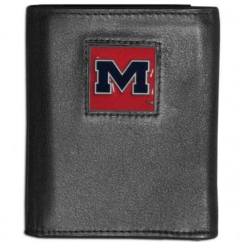 Mississippi Rebels Leather Tri-fold Wallet