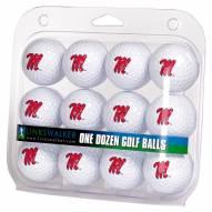 Mississippi Rebels Dozen Golf Balls