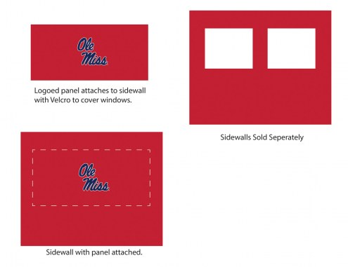Mississippi Rebels Logo Canopy Sidewall Panel (Attaches to Window Sidewall)