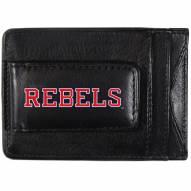 Mississippi Rebels Logo Leather Cash and Cardholder