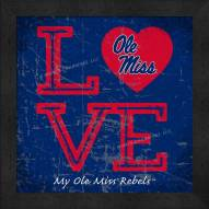 Mississippi Rebels Love My Team Color Wall Decor