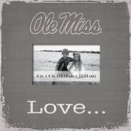 Mississippi Rebels Love Picture Frame