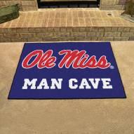 Mississippi Rebels Man Cave All-Star Rug